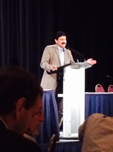 Ziauddin Yousafzai, father of Malala Yousafzai at the Pegasus Conference